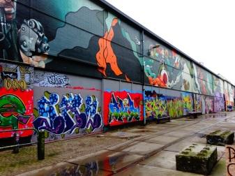 Veel grafitti