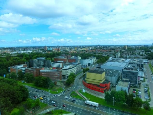 Uitzicht Groningen stad