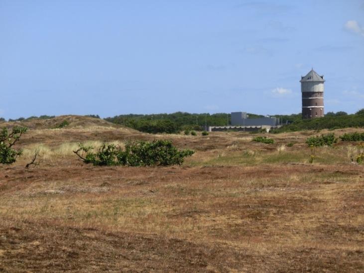 Uitzicht op de watertoren