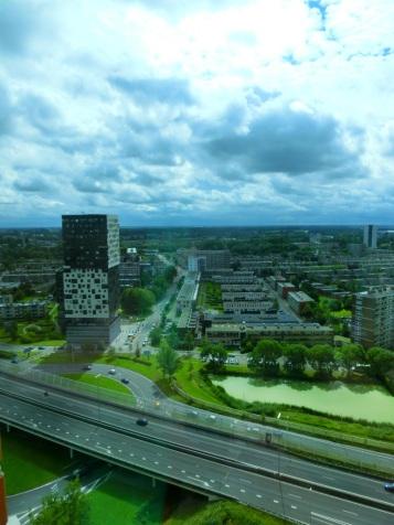 Uitzicht verkeersader Groningen