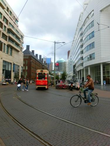 Trams en fietsers