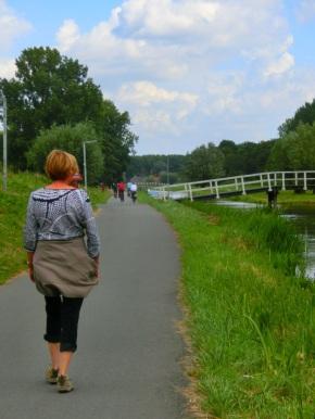 Wandelaars en fietsers