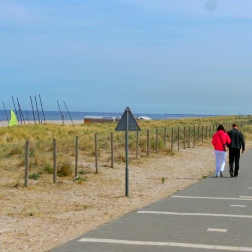 Pad langs het strand