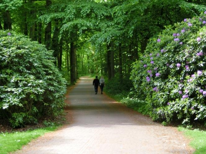 Romantische paden bij Huis ten Bosch