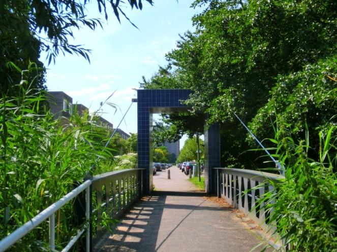 Doorkijkje naar woonwijk Nieuw Sloten