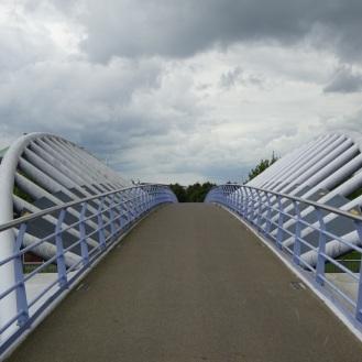 Fietsbrug over het spoor