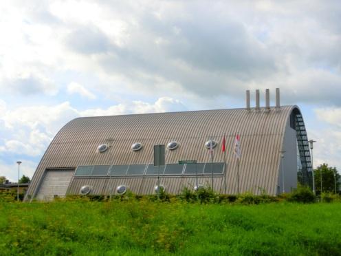 Futuristisch brandweerhuis