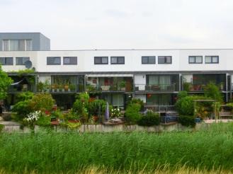 Huizen aan het water