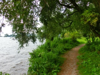 Wandelpad langs het meer