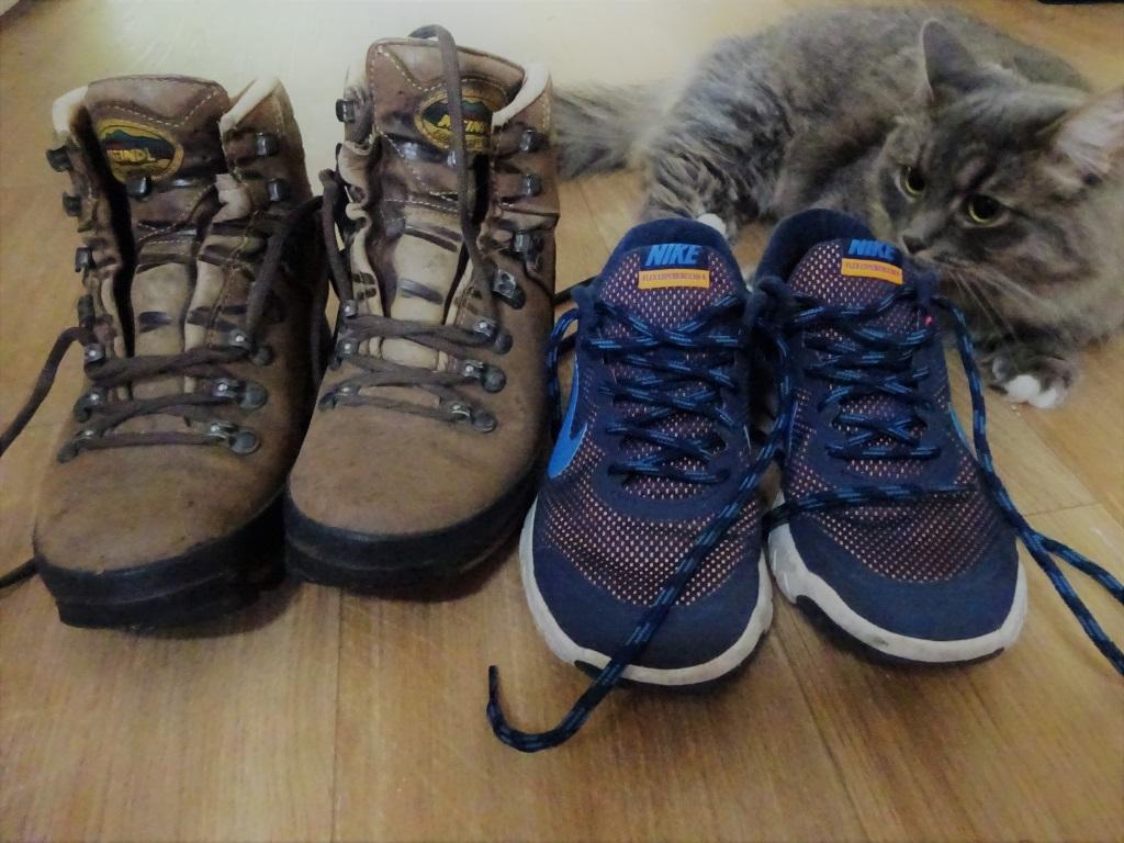 Op welke schoenen wandel je