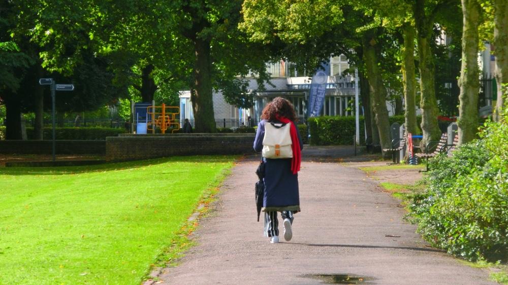Wandeling door het park
