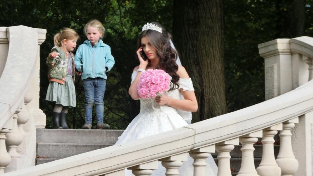 Bruidfoto in Landgoed Clingendael