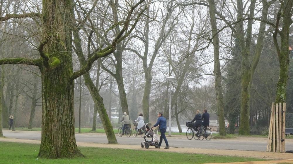Wandelen en fietsen Vondelpark