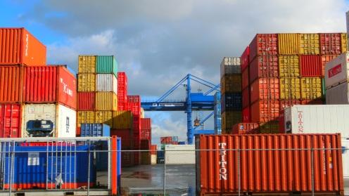 Heijplaat, wandelen tussen havenkranen en zeecontainers