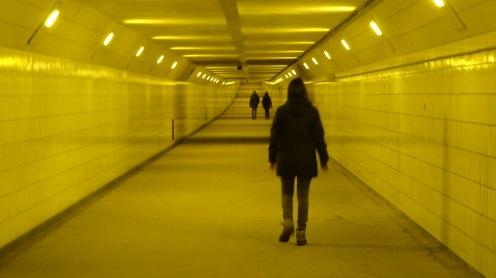 Wandelen door de Maastunnel