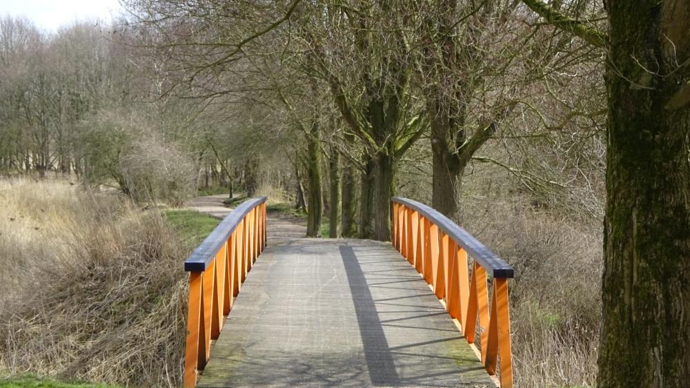 Oranje blauwe brug