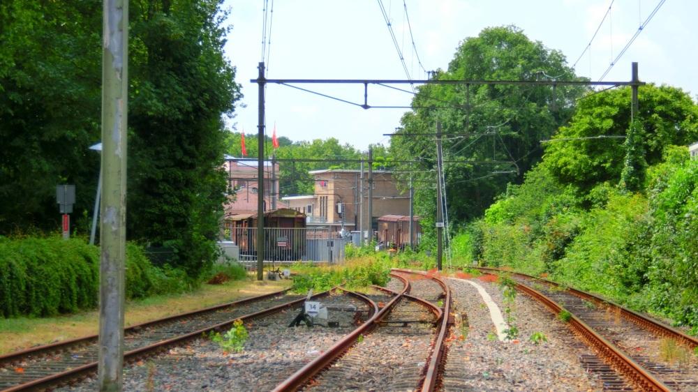 Treinspoor bij Station Utrecht Maliebaan