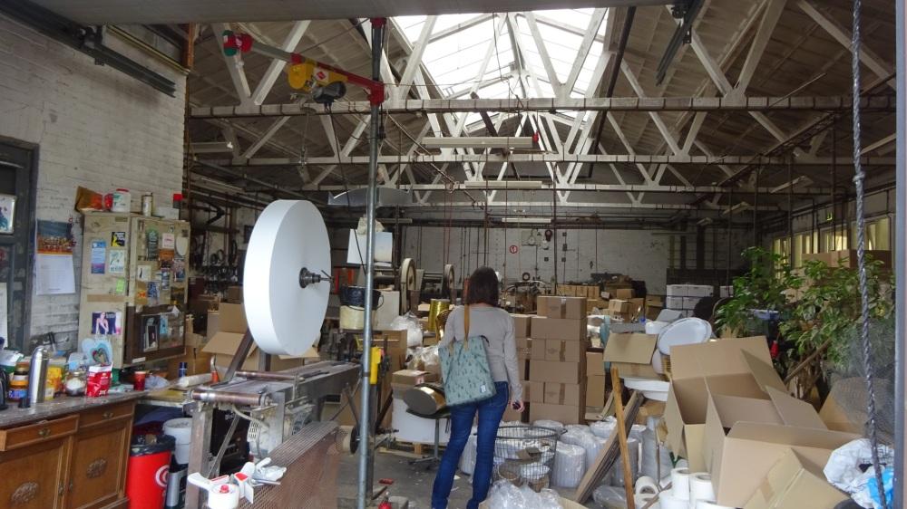 Binnen bij Jero Papierwarenfabriek