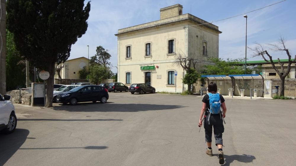 Op weg naar het station