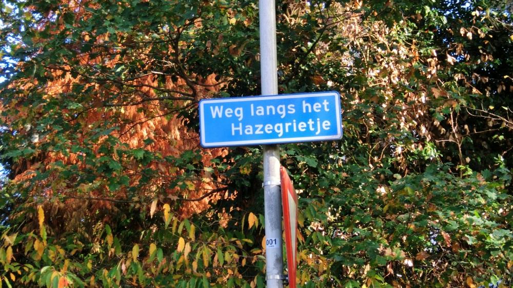 Weg langs de Hazegrietje