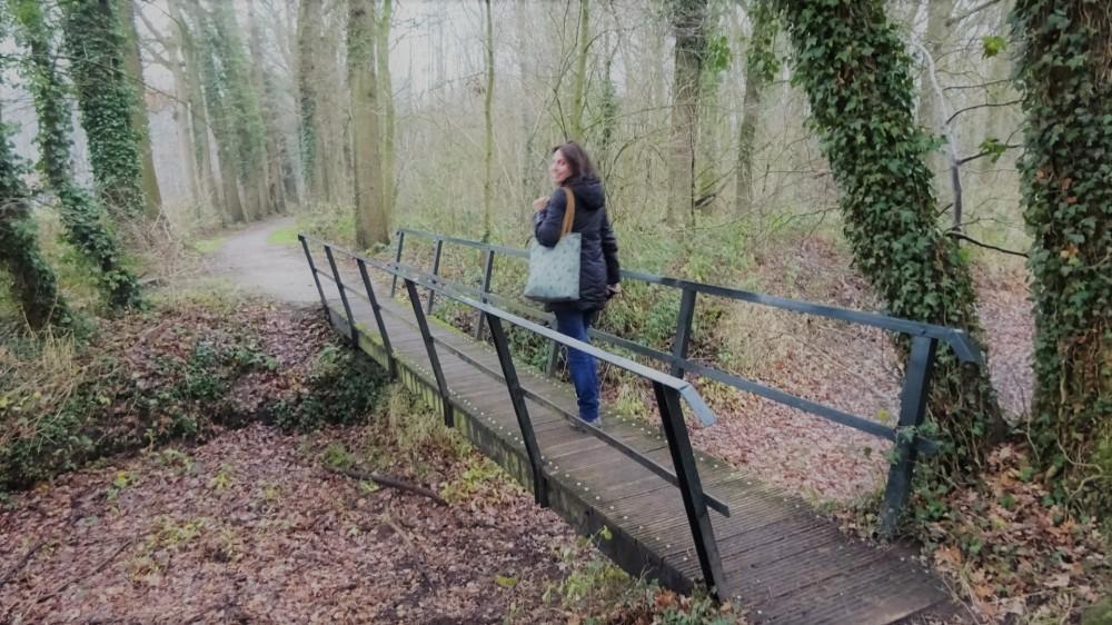 Wandelen over een bruggetje