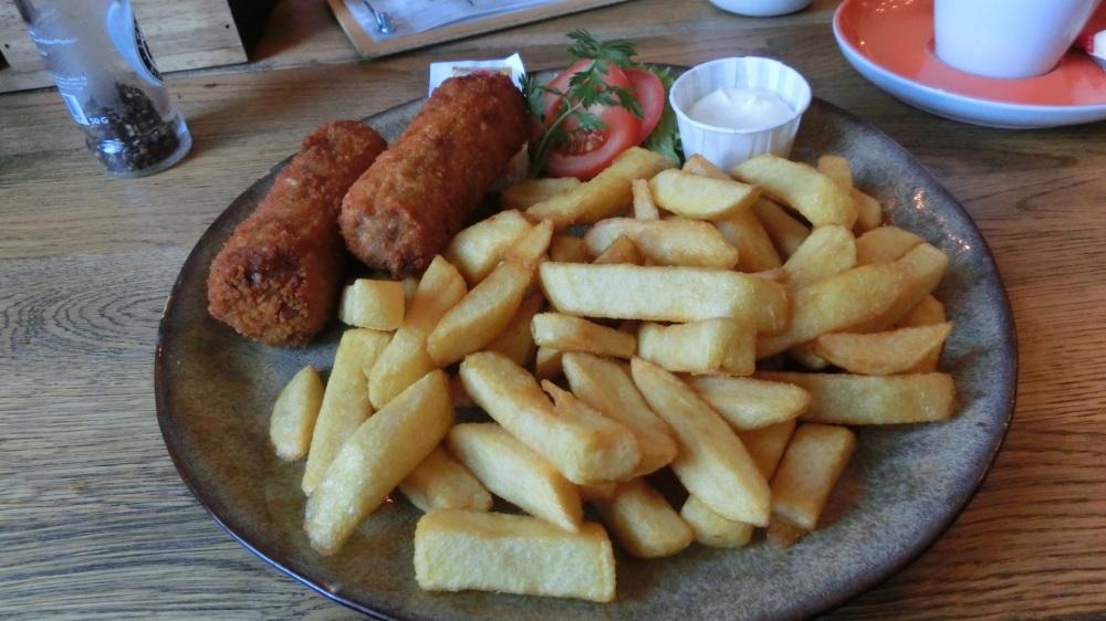 Kroketten en friet bij Brasserie Cronesteyn