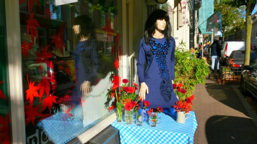 boetiekjes in het modekwartier