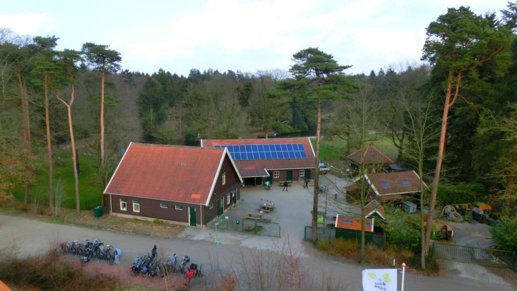 Uitzicht op de kinderboerderij