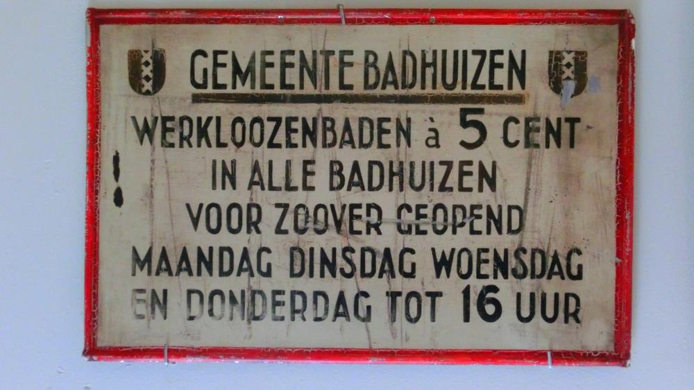 Bordje Gemeente Badhuis