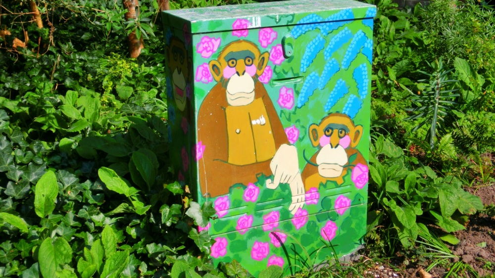 Stroomkastjes geschilderd door Rana Berends