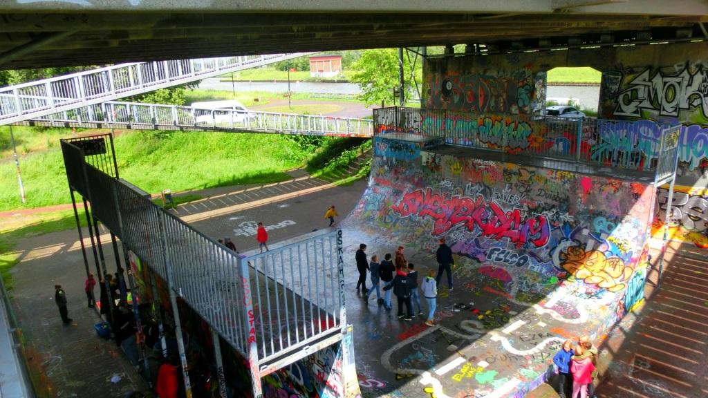 Graffiti onder de Amsterdambrug