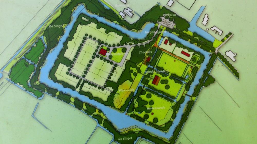 Kaart Landgoed Rosenburgh